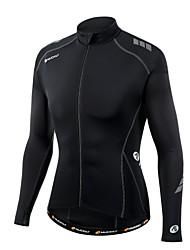 economico -Nuckily Maglia da ciclismo Per uomo Maniche lunghe Bicicletta Maglietta/Maglia TopAntivento Design anatomico Resistente ai raggi UV