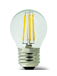 cheap -E26/E27 LED Filament Bulbs G45 4 COB 400 lm Warm White 2700 K Waterproof Decorative AC 220-240 V