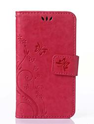 economico -Per Samsung Galaxy Custodia Porta-carte di credito / A portafoglio / Con supporto / Con chiusura magnetica / Decorazioni in rilievo