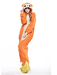 abordables -Pyjamas Kigurumi Singe Combinaison de Pyjamas Costume Polaire Orange Cosplay Pour Adulte Pyjamas Animale Dessin animé Halloween Fête /