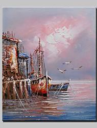 Mini tamanho pintado à mão paisagem moderna pintura a óleo sobre tela um painel pronto para pendurar