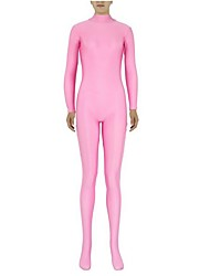 preiswerte -Zentai Anzüge Ninja Zentai Kostüme Cosplay Kostüme Rosa Solide Gymnastikanzug/Einteiler Zentai Kostüme Elasthan Lycra Unisex Halloween