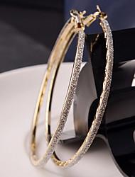 baratos -Mulheres Brincos em Argola - Fashion Prata / Dourado Para Casamento Festa Diário