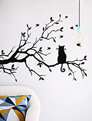 cheap -Wall Stickers Wall Decals Style Cat on A Branch PVC Wall Stickers
