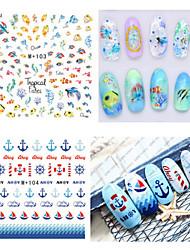 cheap -1pcs Fresh Nail Watermark Sticker102-109