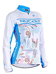 cheap -Nuckily Women's Long Sleeve Cycling Jersey - Blue Geometic Bike Jersey, Anatomic Design, Ultraviolet Resistant, Breathable Polyester
