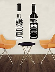 AYA™ DIY Wall Stickers Wall Decals, Wine English Words & Quotes PVC Wall Stickers
