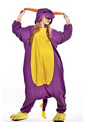 cheap -Adults' Kigurumi Pajamas Dragon / Dinosaur Onesie Pajamas Costume Polar Fleece Purple Cosplay For Animal Sleepwear Cartoon Halloween Festival / Holiday / Christmas