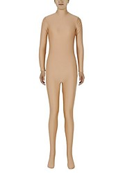 cheap -Zentai Suits Ninja Zentai Cosplay Costumes Beige Solid Colored Leotard / Onesie Zentai Spandex Lycra Men's Women's Halloween