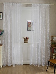Rod Pocket One Panel Curtain Country , Print Living Room Polyester Material Curtains Drapes Home Decoration