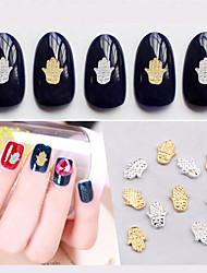 Милый-Прочие украшения-50pcs Gold Silver Nail Decorations-6mm*8mm-Прочее-Пальцы рук / Пальцы ног