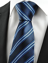 New Classic Striped Dard Light Blue Men' Tie Necktie Business Holiday Gift #0002