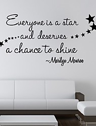 cheap -Everyone Is A Star Wall Stickers Quote Decals Removable Diy Nursery Room Art Mural