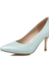 お買い得  -女性用 靴 レザーレット 春 夏 スティレットヒール のために オフィス&キャリア ドレスシューズ パーティー ホワイト パープル ピンク ライトグリーン
