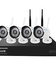cheap -Szsinocam® Mini 4CH 960P 1.3MP WIFI NVR Kits, No Need To Set, You Can The Image, Support Mobile phone P2P