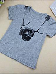 preiswerte -Jungen T-Shirt Baumwolle Sommer Kurzarm Grau Blau
