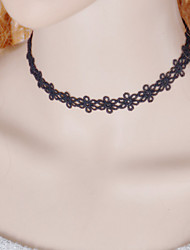 cheap -Women's Choker Necklace / Torque / Gothic Jewelry - Lace Tattoo Style, Fashion Black Necklace Jewelry For Wedding, Party, Daily / Tattoo Choker