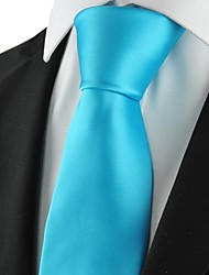 cheap -New Solid Baby Blue Men Tie Suit Necktie Formal Wedding Party Holiday GiftKT1018