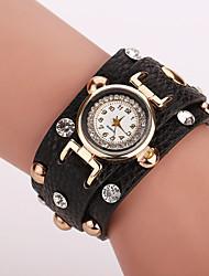 Xu™ Dámské Módní hodinky Maketa Diamant Hodiny Křemenný Kůže Kapela Černá Bílá Modrá Červená Hnědá RůžováHnědá Červená Modrá Růžová