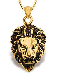 Mode Löwe Tier Schmuck Anhänger 18k Gold überzogene Männer / Frauen Geschenk p30137
