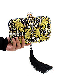 cheap -Women Bags Polyester Evening Bag Crystal/ Rhinestone Acrylic Jewels for Wedding Event/Party Casual Formal Office & Career All Seasons