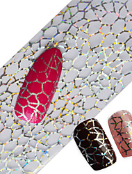 100x4cm Latest Glitter Nail Art Full Tips Wraps DIY Cobweb Sexy Nail Foils Transfer Polish Adhesive Sticker Nail Decals