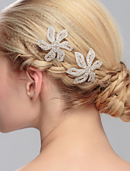 Women's Rhinestone Headpiece-Wedding Special Occasion Casual Office & Career Outdoor Hair Pin 1 Piece