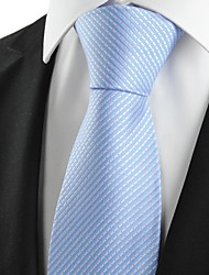 cheap -New Striped Blue Grey Formal Men's Tie Necktie Wedding Party Holiday Gift #1029