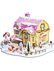 Недорогие -подарок рождества умный дом сладкий коттедж 3d головоломки (34pcs)
