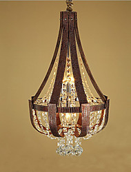pós moderno luxo couro cristal criativo lron lustre de alta qualidade
