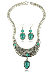 cheap -Women's Turquoise Alloy Wedding Party Anniversary Daily Earrings Necklaces Costume Jewelry