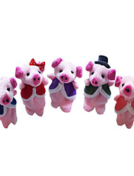 5PCS This Little Piggy The Nursery Rhyme Finger Puppets Kids Talk Prop