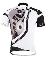ILPALADINO Cycling Jersey Men's Unisex Short Sleeves Bike Jersey Tops Quick Dry Ultraviolet Resistant Breathable Reduces Chafing