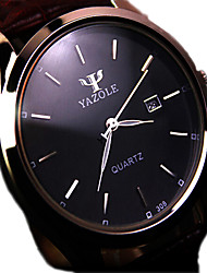 cheap -Men's Quartz Wrist Watch Calendar / date / day Water Resistant / Water Proof Stainless Steel Band Charm Black Brown