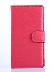 cheap -For Nokia Case Wallet / Card Holder / with Stand Case Full Body Case Solid Color Hard PU Leather NokiaNokia Lumia 1520 / Nokia Lumia 1320
