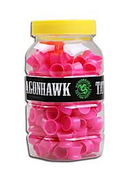 Недорогие -dragonhawk® 1 пачка средней татуировки чернил чашки крышки силиконовый материал уникальный дизайн Татуирование поставок красного цвета