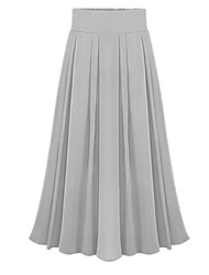 cheap -Women's Going out A Line Skirts - Solid Colored / Spring / Fall / Maxi