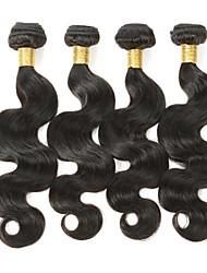 """Top Grade 8A 4pcs/lot 12""""-28"""" Brazilian Remy Human Hair Unprocessed Brazilian Hair Body Wave Natural Black Hair Bundles"""