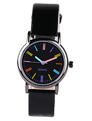 Foreign Hot Color Scale Black Belt Women's Watch Cool Watches Unique Watches Strap Watch