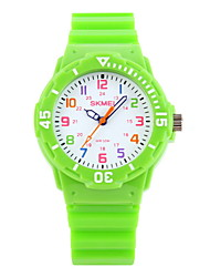 cheap -SKMEI Quartz Japanese Quartz Wrist Watch Casual Watch Rubber Band Candy color Casual Fashion Black Blue Orange Green Pink