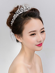 cheap -Women's Elegant Pearl Crystal Alloy Hair Jaw Clip Flower