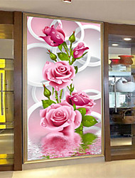 cheap -DIY 5D Diamonds Embroidery Pink Rose Magic cube Round Painting Cross Stitch Kits Diamond Mosaic Home Decoration