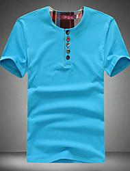 billige -Herre Trykt mønster Plusstørrelser T-shirt