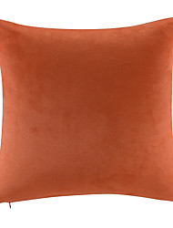 Leather/suede Pillow With Insert,Solid Color Modern/Contemporary