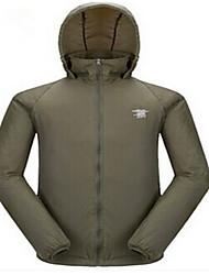 Men's Long Sleeves Hunting Jacket Waterproof Ultraviolet Resistant Windbreaker Top for Camping / Hiking Hunting Fishing Climbing