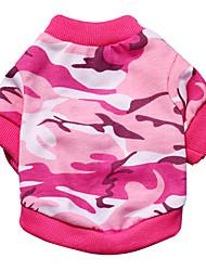 preiswerte -Katzen / Hunde T-shirt Grün / Rosa Hundekleidung Sommer / Frühling/Herbst camuflaje Modisch