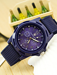 Men's Hot Fashion European Style Braided Rope Canvas Wrist Watch Cool Watch Unique Watch