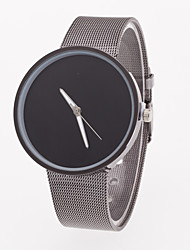 Men's Wrist watch Quartz Stainless Steel Band Minimalist Grey