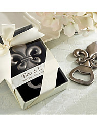 Paris Love  Fleur de Lis Pewter-Finish Bottle Opener Wedding Favors