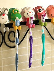 cheap -Toothbrush Holder Cartoon Plastic Wall Mounted